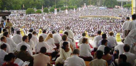Mass meditation on Peace Day Sept 21st 2007